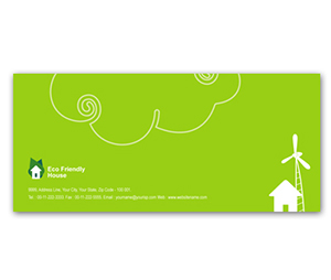 Envelope printing Eco Friendly House