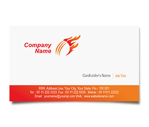 Business Card printing Cricket Academy