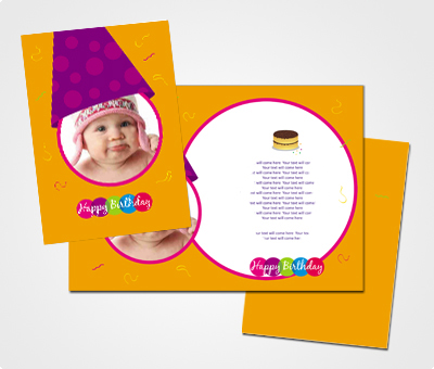 Online Greeting Card printing First Birthday Celebration