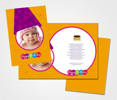 Online Greeting Card printing First Birthday Celebration