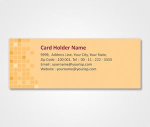 Address Labels printing Golden Tiles