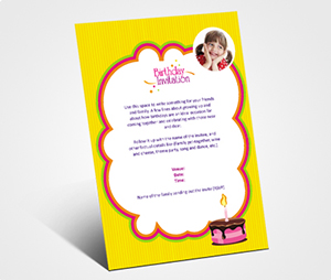 Invitations printing Birthday Celebration