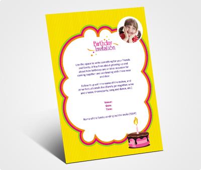 Online Invitations printing Birthday Celebration
