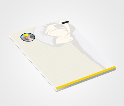 Online Notepads printing Civil Theme
