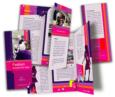 Online Brochures Two Fold printing New Fashion Shop
