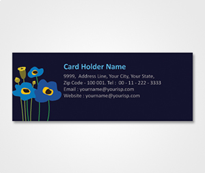 Address Labels printing Fancy Flowers