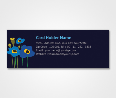 address labels design for fancy flowers offset or digital printing