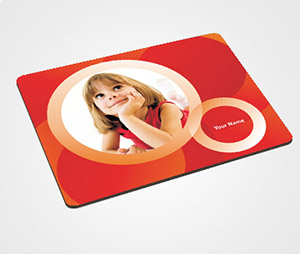 Mouse Pads printing Orange Rings