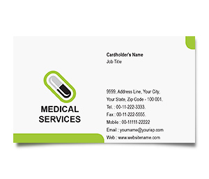 Business Card printing Pharmacist Medical