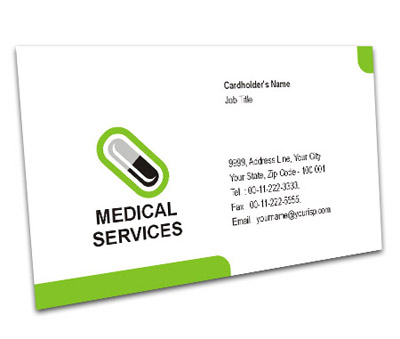 Business Card Design For Medical Shop Offset Or Digital Printing