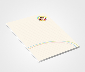 Notepads printing Rainbow Theme
