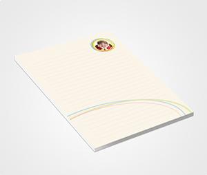 Notepads printing Rainbow Theme