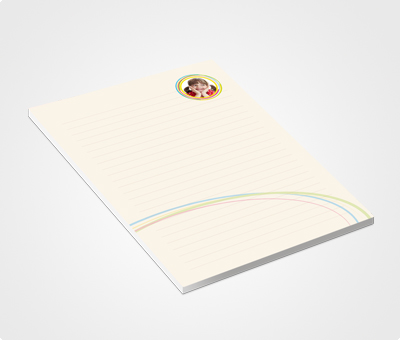 Online Notepads printing Rainbow Theme