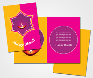 Greeting Card printing Happy Diwali