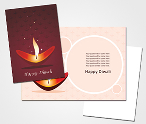 Greeting Card printing Diwali Celebreation