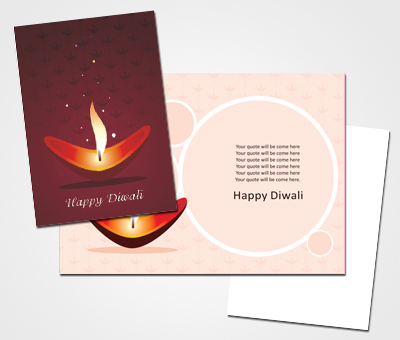 Online Greeting Card printing Diwali Celebreation