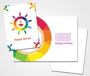 Greeting Card printing Best Wishes For Diwali
