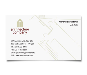 Business Card printing Architectural Designers