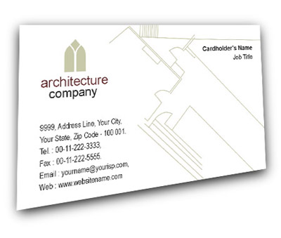 Online Business Card printing Architectural Designers