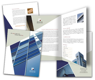 Online Brochures One Fold printing Modern Architecture