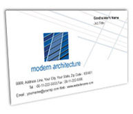 Online Business Card printing Architecture Drawings