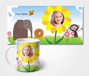 Mugs printing Zoo Theme