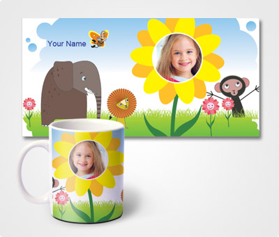 Online Mugs printing Zoo Theme
