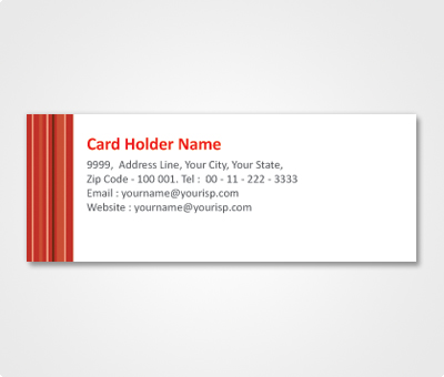 Online Address Labels printing Red Lines On White Background