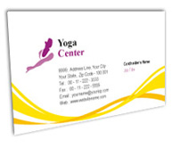 Online Business Card printing Yoga Fitness