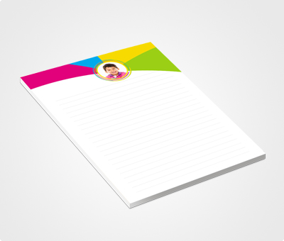 Online Notepads printing Colorful Photo