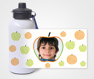 Water Bottles printing Kids With Apples