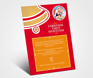 Invitations printing Christmas Party Celebration