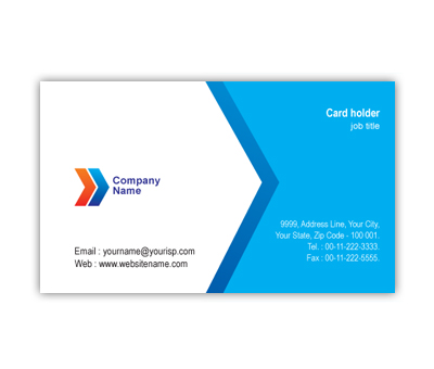 Online Business Card printing Air Travel Company