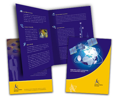Online Brochures One Fold printing Wireless Communication System