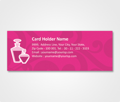 Online Address Labels printing Lavender Colored Design