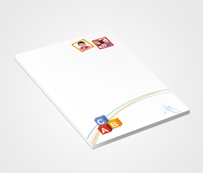 Online Notepads printing Kids Picture On Top