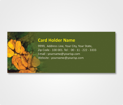 Online Address Labels printing Green Patch and Cookies