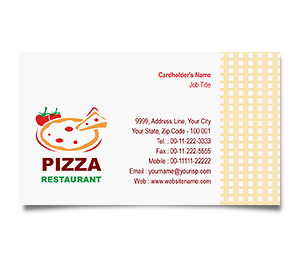 Business Card printing Pizza and Food