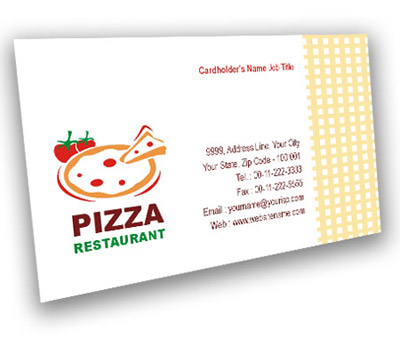 Online Business Card printing Pizza and Food
