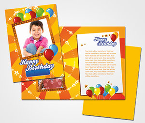 Greeting Card printing Happy Birthday and Kids