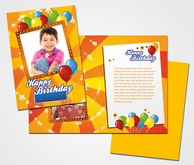Online Greeting Card printing Happy Birthday and Kids