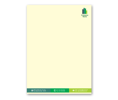Online Letterhead printing Construction Company