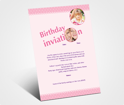 Online Invitations printing Birthday Invitation