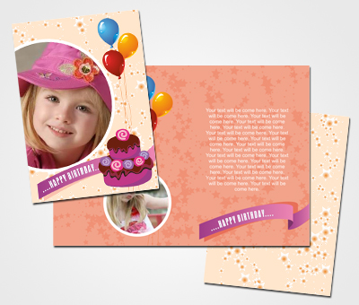 Online Greeting Card printing First Birthday Wishes