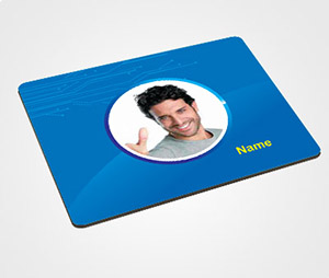Mouse Pads printing Blue Background