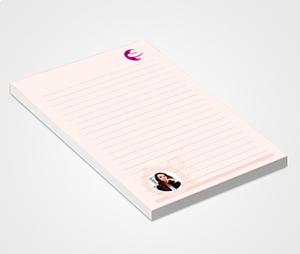 Notepads printing Orange Background