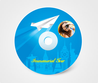 Online CD / DVD Stickers printing Immemorial Tour