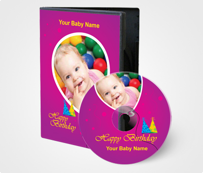 Online CD / DVD Covers printing Baby Birthday