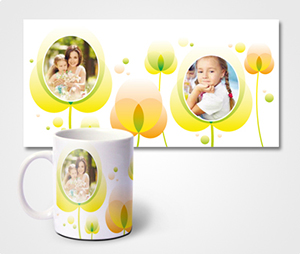 Mugs printing Yellow Flowers