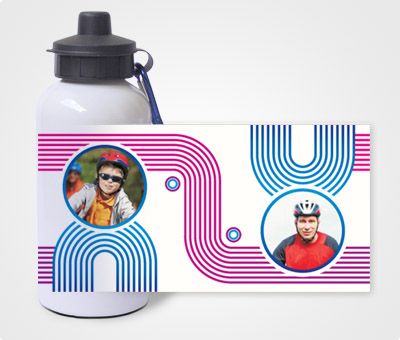 Online Water Bottles printing Tracks & Pictures